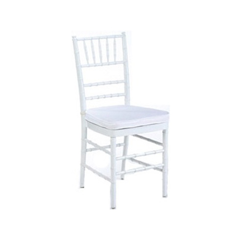 White Tiffany Chair Amp White Cushion Chair Hire Co